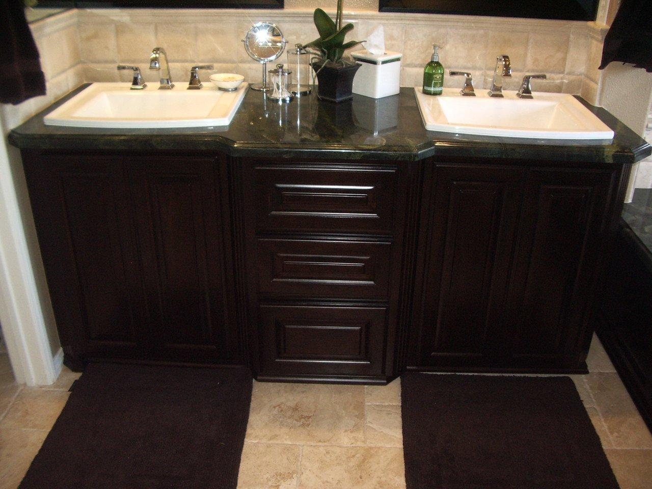 custom bathroom vanity built
