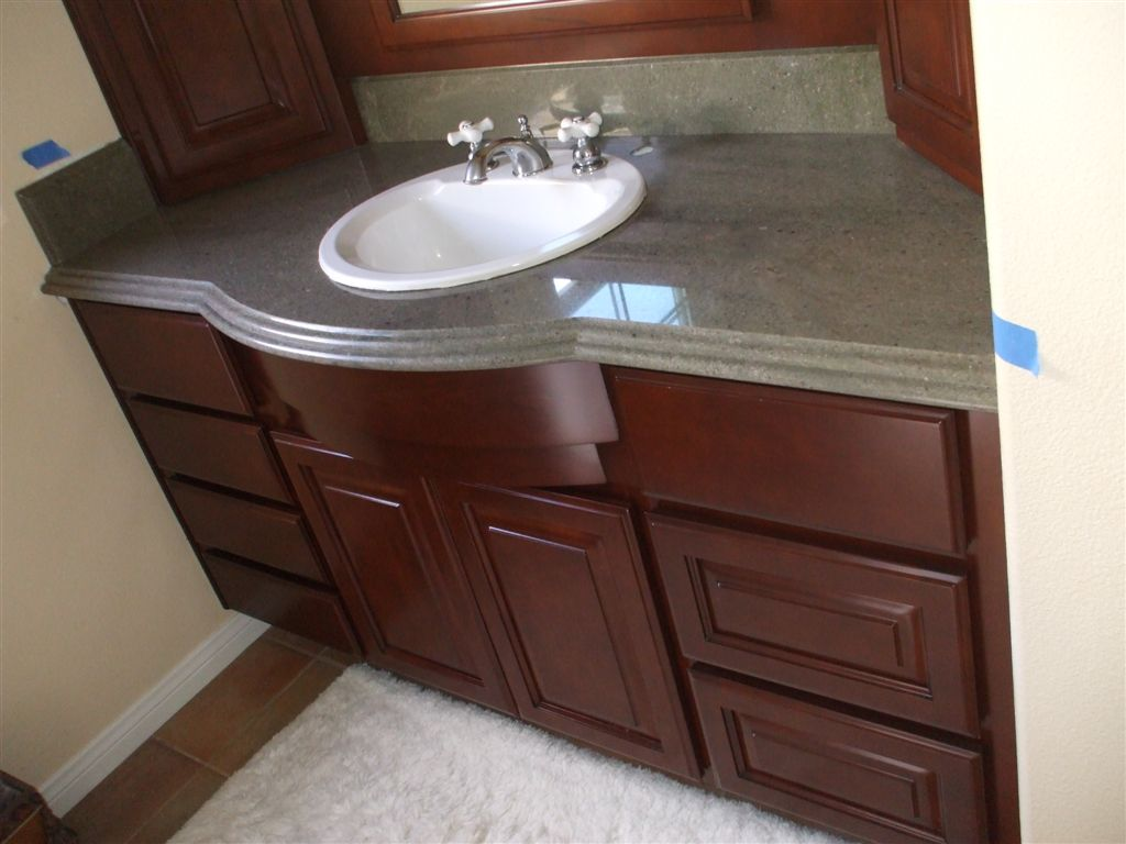 Get a new bathroom vanity woodwork creations for Latest bathroom sinks