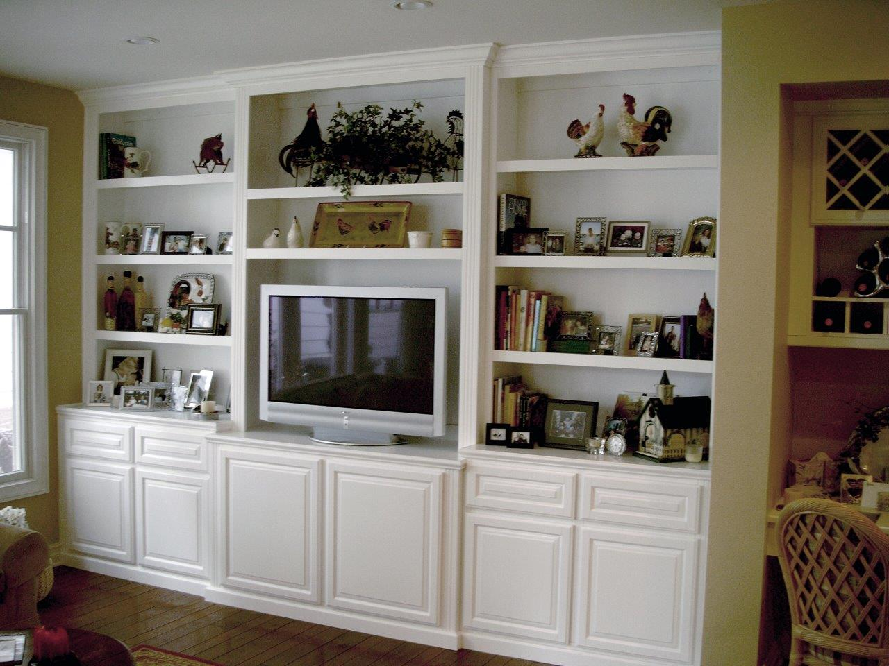 alcove or flat wall entertainment centers - Built In Entertainment Center Design Ideas