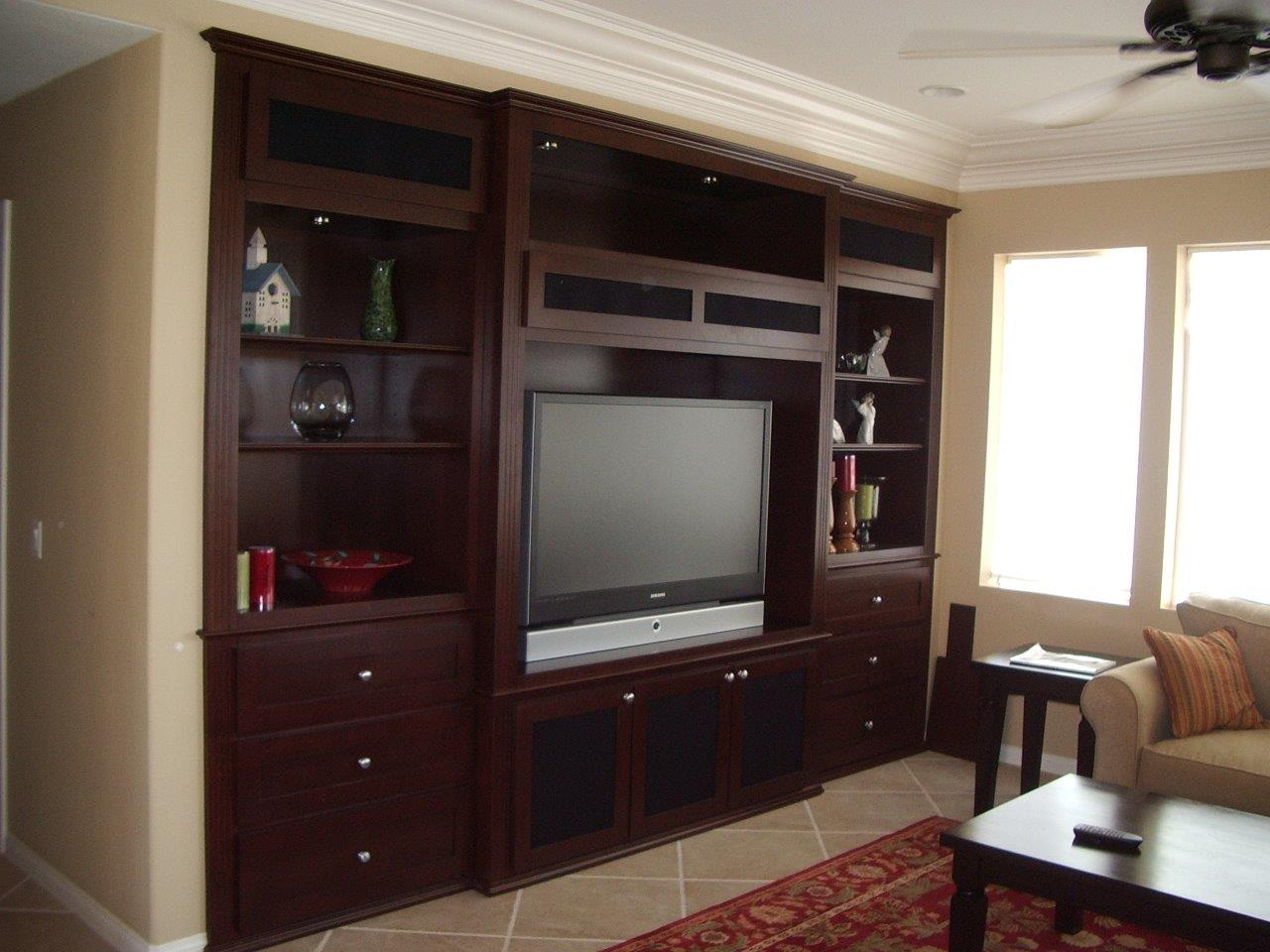 Custom entertainment center cabinet