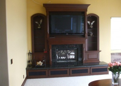 Curved top cabinets