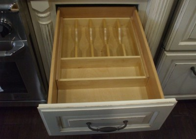 Silverware storage drawer