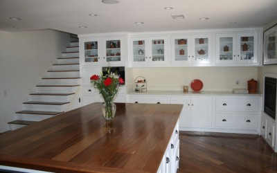 A clear view with glass cabinet doors