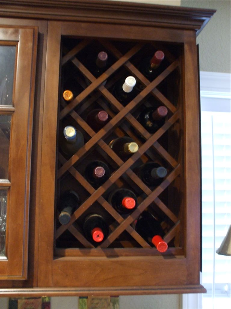 how to build a wine rack in a kitchen cabinet design