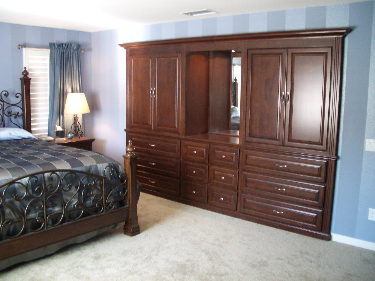Murphy beds and bedroom cabinets woodwork creations - Bedroom storage cabinets with drawers ...