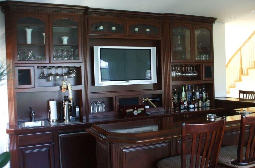 garage door molding ideas - Built in home bar cabinets Woodwork Creations
