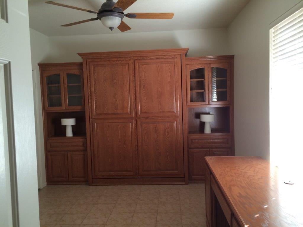 Custom murphy bed in closed position